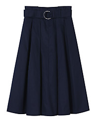 cheap -Women's Work A Line Skirts - Solid Colored