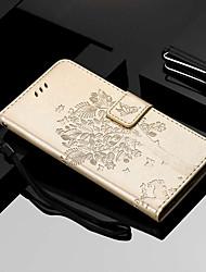 Недорогие -Кейс для Назначение Motorola MOTO G6 / Moto G6 Plus / Moto E5 Plus Кошелек / Бумажник для карт / со стендом Чехол Кот / дерево Твердый Кожа PU