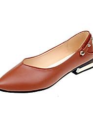 Недорогие -Жен. Комфортная обувь Полиуретан Осень На каждый день На плокой подошве На плоской подошве Черный / Бежевый / Коричневый