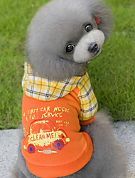 preiswerte -Hunde / Katzen Mäntel / Pullover Hundekleidung Geometrisch Orange / Blau Baumwolle Kostüm Für Haustiere Unisex Lässig / Alltäglich / Warm-Ups