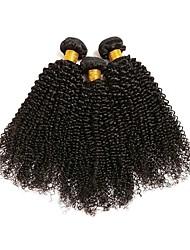 Недорогие -3 Связки Индийские волосы Kinky Curly 8A Натуральные волосы Человека ткет Волосы Удлинитель Пучок волос 8-28 дюймовый Естественный цвет Ткет человеческих волос Женский Удлинитель Лучшее качество