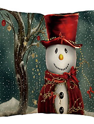 Недорогие -Наволочки Новогодняя тематика / Праздник Хлопковая ткань Прямоугольный Для вечеринок / Оригинальные Рождественские украшения