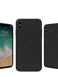 Недорогие -Nillkin Кейс для Назначение Apple iPhone XS / iPhone XS Max Защита от удара / С узором Кейс на заднюю панель Полосы / волосы Твердый Углеродное волокно для iPhone XS / iPhone XR / iPhone XS Max