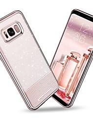 Недорогие -BENTOBEN Кейс для Назначение SSamsung Galaxy S8 Plus / S8 Покрытие / Ультратонкий / Сияние и блеск Кейс на заднюю панель Однотонный Мягкий ТПУ / ПК для S8 Plus / S8