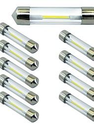 Недорогие -10 шт. 41mm Автомобиль Лампы 1 W COB 100 lm 1 Светодиодная лампа Лампа поворотного сигнала Назначение