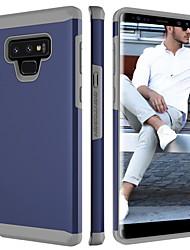 Недорогие -Кейс для Назначение SSamsung Galaxy Note 9 Защита от удара Кейс на заднюю панель Однотонный Твердый ПК