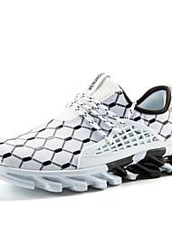 Недорогие -Муж. Комфортная обувь Трикотаж Весна & осень Спортивные Спортивная обувь Беговая обувь Дышащий Черный / Черно-белый / Оранжевый и черный