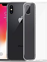 Недорогие -Кейс для Назначение Apple iPhone XR / iPhone XS Max Прозрачный Кейс на заднюю панель Однотонный Мягкий ТПУ для iPhone XS / iPhone XR / iPhone XS Max