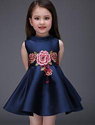 economico -Bambino / Bambino (1-4 anni) Da ragazza Fantasia floreale Senza maniche Vestito