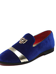 Недорогие -Муж. Официальная обувь Искусственная кожа Наступила зима На каждый день / Шинуазери (китайский стиль) Мокасины и Свитер Водостойкий 3D Черный / Красный / Синий / Для вечеринки / ужина / Заклепки