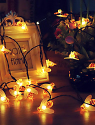 cheap -KWB 5m String Lights 20 LEDs Warm White Waterproof / Solar / Creative Solar Powered 1 set