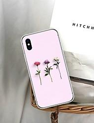 baratos -Capinha Para Apple iPhone 8 / iPhone 6 Estampada Capa traseira Flor Macia TPU para iPhone XS / iPhone XR / iPhone XS Max