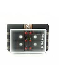 billiga -dc32vcar / säkringsbox säkringsbox 6-vägs utgång med leddindikatorlampa (30a per krets) singel effektingång