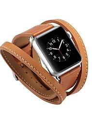 Недорогие -Шерсть теленка Ремешок для часов Ремень для Apple Watch Series 4/3/2/1 Черный / Синий / Красный 23см / 9 дюйма 2.1cm / 0.83 дюймы