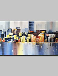 Недорогие -Hang-роспись маслом Ручная роспись - Абстракция Пейзаж Modern Без внутренней части рамки / Рулонный холст