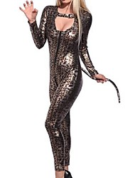 cheap -Cat Belle Dress Women's Halloween Carnival Oktoberfest Festival / Holiday Halloween Costumes Outfits Brown Leopard Cat Animal Design Sexy