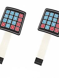 Недорогие -4 x 4 матричная матрица 16 клавишная клавиатура клавиатуры с клавиатурой для arduino / avr / pic (2-pack)