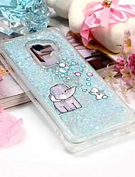 baratos -Capinha Para Samsung Galaxy S9 Plus / S9 Carteira / Porta-Cartão / Com Suporte Capa traseira Elefante Macia TPU para S9 / S9 Plus / S8 Plus