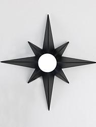 baratos -Design de padrão de estrela moderno octogonal simplicidade metal luzes de parede sala de estar restaurante quarto lâmpada de cabeceira escadas corredor luz luminária
