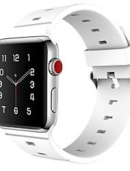 abordables -Le gel de silice Bracelet de Montre  Sangle pour Apple Watch Series 3 / 2 / 1 Noir / Blanc / Bleu 23cm / 9 pouces 2.1cm / 0.83 Pouces