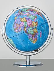 Недорогие -9-дюймовый картографический мир мира с подставкой встроенный светодиодный рабочий стол для рабочего стола для детей и учителей, образовательный подарок