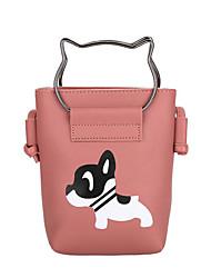 Недорогие -Жен. Мешки PU Мобильный телефон сумка Молнии Розовый / Серый / Хаки