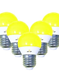 abordables -EXUP® 5pcs 5 W 450 lm E26 / E27 Ampoules Globe LED G45 12 Perles LED SMD 2835 Mignon / Créatif / Soirée Jaune 220-240 V / 110-130 V