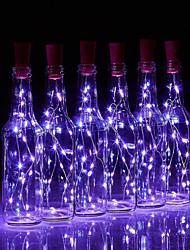 Недорогие -BRELONG® 10 шт. Пробка бутылки вина LED Night Light Тёплый белый / Белый / Красный Батарея с батарейкой Креатив / Свадьба / Украшение <5 V