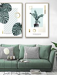 baratos -Quadros Emoldurados / Conjunto Emoldurado - Botânico / Floral / Botânico Plástico Ilustração