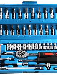 Недорогие -Набор из 46 предметов Набор метрических гаечных ключей серии 6.3 мм с инструментами для автоматического восстановления инструмента