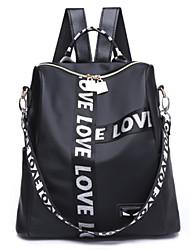 お買い得  -女性用 バッグ ナイロン バックパック ジッパー レタード ホワイト / レインボー / レッド