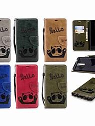 Недорогие -Кейс для Назначение Nokia Nokia 5.1 / Nokia 3.1 Кошелек / Бумажник для карт / Флип Чехол Панда Твердый Кожа PU для Nokia 5 / Nokia 5.1 / Nokia 3