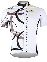 Недорогие -ILPALADINO Муж. С короткими рукавами Велокофты - Белый Велоспорт Джерси Верхняя часть Дышащий Быстровысыхающий Ультрафиолетовая устойчивость Виды спорта 100% полиэстер / Шоссейные велосипеды