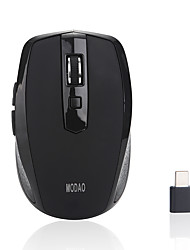 cheap -MODAO Wireless 2.4G Office Mouse / Silent Mouse Optical E27 6 pcs keys Led light 3 Adjustable DPI Levels 2 programmable keys 800/1200/1600 dpi
