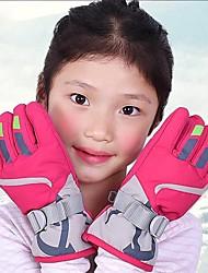 Недорогие -Зимние / Лыжные перчатки Мальчики и девочки Полный палец С защитой от ветра / Водонепроницаемость / Сохраняет тепло Искусственная кожа / Полиуретановая кожа / Гусиное перо / Водонепроницаемая ткань