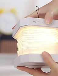 baratos -1 pc bluetooth speaker book lâmpada usb recarregável dobrável led noite música mesa lâmpada de mesa