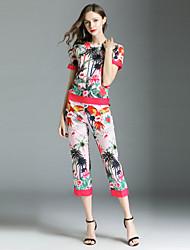 abordables -Femme Chic de Rue Chemise - Fleur, Imprimé Pantalon