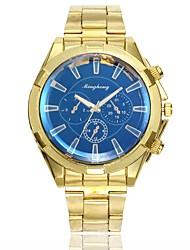 baratos -Homens Relógio Elegante Relógio de Pulso Quartzo Novo Design Relógio Casual Lega Banda Analógico Casual Fashion Dourada - Branco Azul Um ano Ciclo de Vida da Bateria