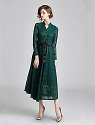 cheap -Women's Basic / Elegant Sheath Dress Lace