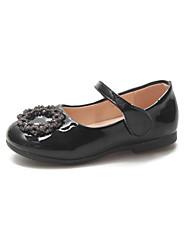 abordables -Fille Chaussures Polyuréthane Printemps & Automne / Printemps été Confort / Chaussures de Demoiselle d'Honneur Fille Ballerines Marche Paillette Brillante / Scotch Magique pour Enfants Noir / Argent