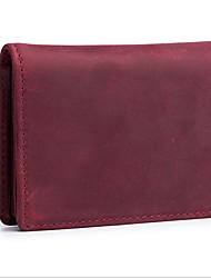 Недорогие -PU Сплошной цвет Визитница / бумажник Однотонные Сплошной цвет Кофейный / Коричневый / Темно-красный