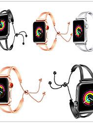 economico -Cinturino per orologio  per Apple Watch Series 4/3/2/1 Apple Stile dei gioielli Acciaio inossidabile Custodia con cinturino a strappo