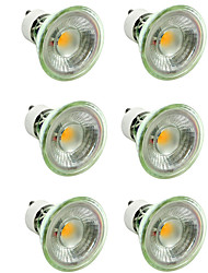 billiga -6pcs 7 W 500 lm GU10 / MR16 LED-spotlights 1 LED-pärlor COB Bimbar / Dekorativ Varmvit / Kallvit 220-240 V