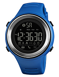 Недорогие -SKMEI Муж. Спортивные часы Армейские часы Японский Цифровой 50 m Bluetooth Будильник Календарь PU Группа Цифровой На каждый день Мода Черный / Синий / Зеленый - Синий Серебро / черный Хаки / Один год