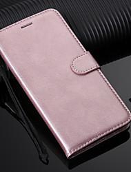 baratos -Capinha Para Huawei P20 lite / P smart Carteira / Porta-Cartão / Com Suporte Capa Proteção Completa Sólido Rígida PU Leather para Huawei P20 / Huawei P20 Pro / Huawei P20 lite / P10 Lite / P10