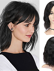 economico -capelli naturali Remy Lace integrale Lace frontale Parrucca Brasiliano Ricci sciolti Nero Parrucca Taglio asimmetrico 130% 150% 180% Densità dei capelli con i capelli del bambino Da donna Facile da