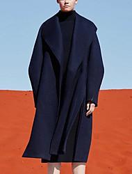 Недорогие -Жен. Пальто Однотонный, Шерсть