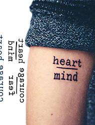 Недорогие -10 pcs Временные татуировки Серия сообщений Новый дизайн / Оригинальные Искусство тела Лицо / рука / запястье / Стикер татуировки