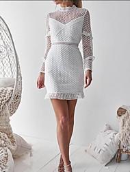 cheap -Women's Elegant Sheath Dress - Solid Colored Lace