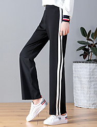 cheap -Men's / Women's Wide Leg Running Pants - Black, Blue Sports Stripe Pants / Trousers Fitness, Gym, Workout Activewear Quick Dry, Breathable, Soft Stretchy Loose
